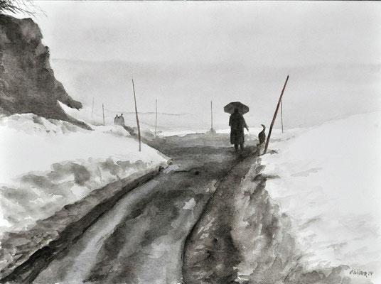 INGE AND KUTYA // 56x42 cm // watercolor