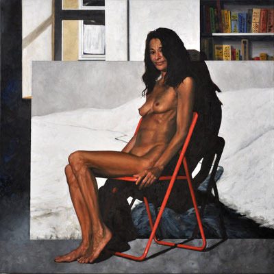 HELMA – INDONESIAN WOMAN // 100x100 cm // oil on canvas