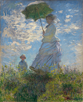 "Claude Monet: ""Camille Monet und ihr Sohn Jean auf dem Hügel"" 1875, National Gallery of Art, Washington"