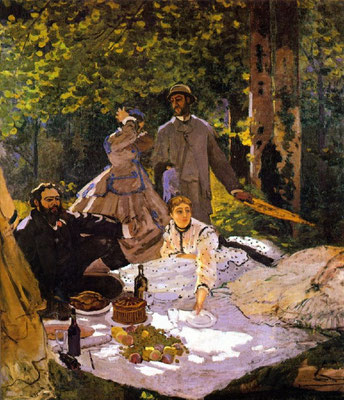 """Claude Monet: """"Das Frühstück im Grünen"""" 1865/66, Musee d'Orsay, Paris"""