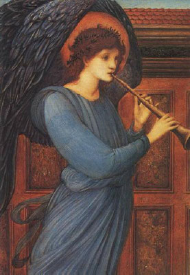 """Der Engel"" 1881 von Sir Edward Burne-Jones, Glasgow Art Gallery"
