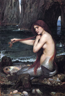 """A Mermaid"" 1900 von John William Waterhouse, Royal Academy of Arts, London"