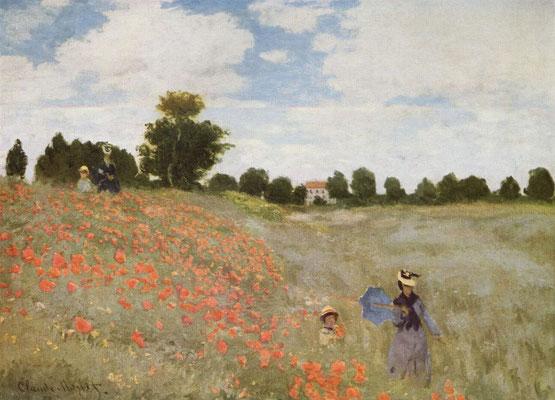"Claude Monet: ""Mohnfeld bei Argenteuil""  1873, Musee d'Orsay, Paris"
