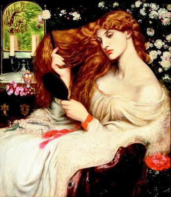 """""""Lady Lillith"""" 1868 von Dante Gabriel Rossetti, Delaware Art Museum"""