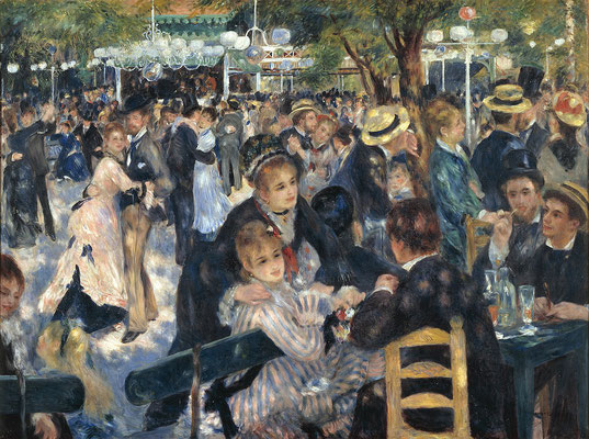 """Pierre-Auguste Renoir: """"Bal du Moulin de da Galette"""" 1876, Musee d'Orsay, Paris"""