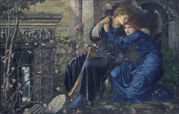 """Love Among the Ruins"" 1873 von Sir Edward Burne-Jones, Christies"