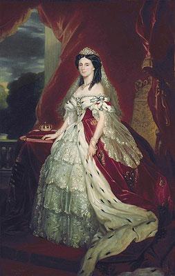 Augusta von Sachsen-Weimar-Eisenach (1811-1890), Ehefrau von Kaiser Wilhelm I., Deutsche Kaiserin und Königin von Preußen