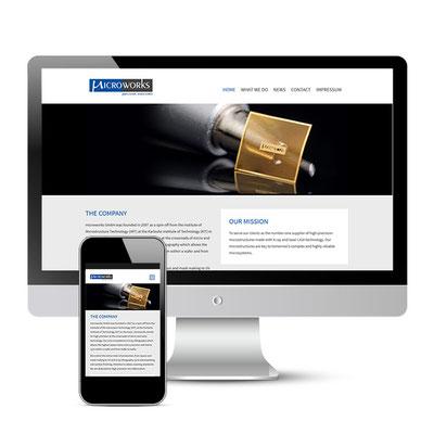 Website für microworks - www.micro-works.de (CMS Typo 3)