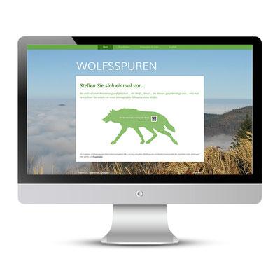 Webseite Wolfsspuren - Konzept für ein virtuelles Umweltbildungsangebot, eno-design.jimdo.com