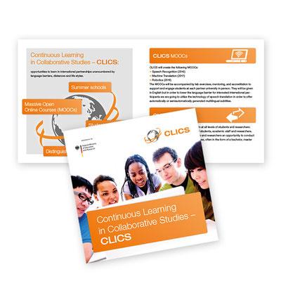Materialien zur Öffentlichkeitsarbeit, Project CLICS, KIT