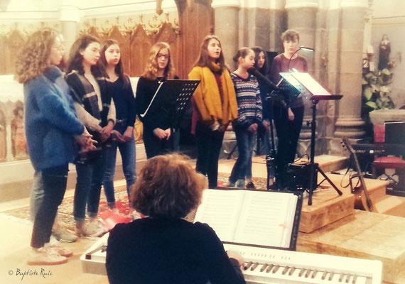 Les enfants de Prélude de Durtol - Concert d'Olby - Puy de Dôme Eglise St Pierre le 23 mars 2018
