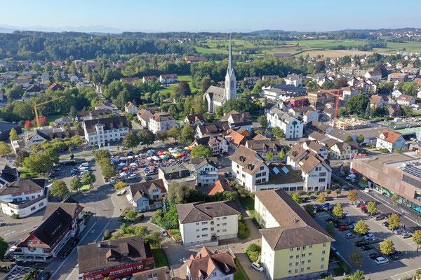 Stadt Amriswil aus der Luft