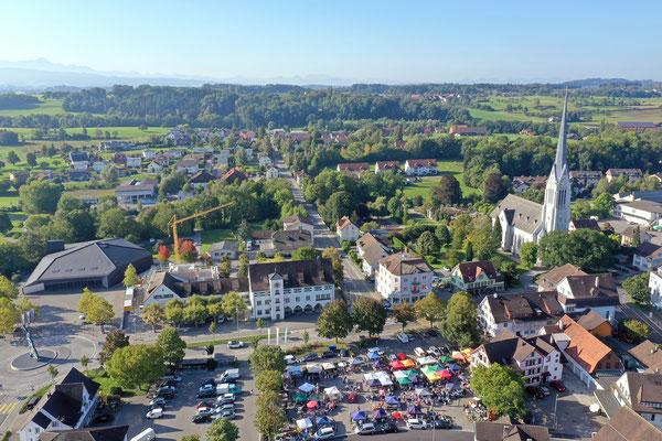 Pentorama und Stadt Amriswil, Flugaufnahmen