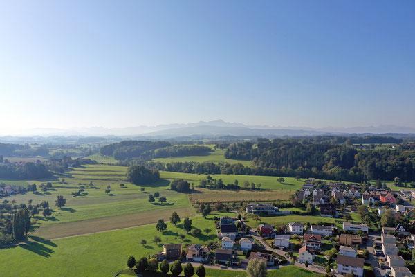 Säntis mit Stadt Amriswil