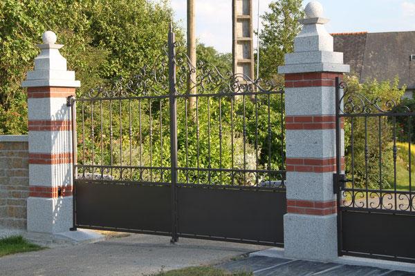 CMC Métallerie Avranches(50)-Portail fer forgé acier galvanisé thermolaqué
