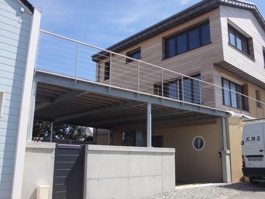 CMC Métallerie Avranches(50)-Structure acier galvanisé  terrasse
