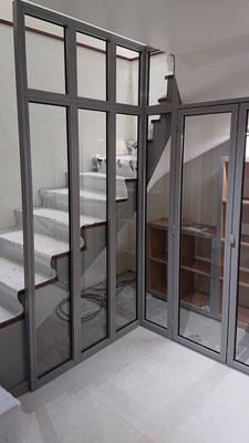 CMC Métallerie Avranches(50)- Verrière cage d'escalier
