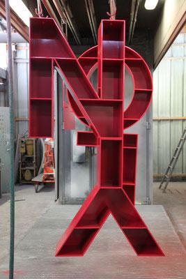 """Lettres en aluminium thermolaquées -Support revues """"LYON"""""""