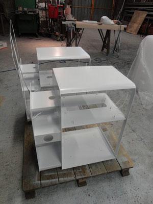 CMC Métallerie Avranches(50)-Mobilier Agencement Structure mobilier acier thermolaqué