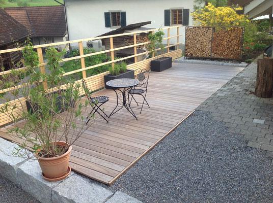 Strebel Holzbau Terrassenböden aussen