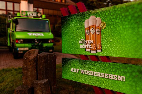 Biertaxi der Hachenburger Brauerei