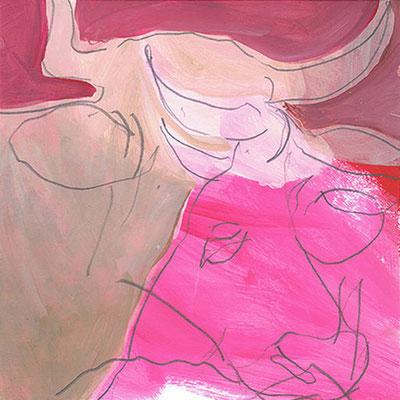 Kuh 4, Acryl, 20 x 20 cm