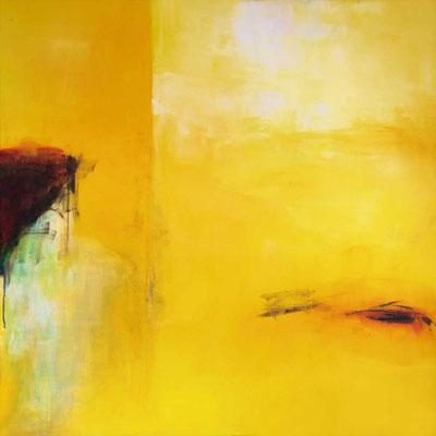 Gelbfieber, Acryl, 100 x 100 cm