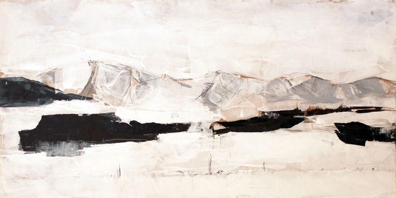 Nagelfluhkette, Acryl, 84 x 42 cm