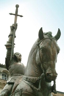 Visite de la Statue de Jeanne d'Arc - Michel Petit