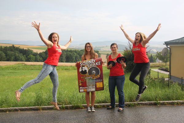 """Der SoundShake 2016 wird zum """"Abheben"""", finden Michelle, Lea, Flora und Magdalena von der Musikkapelle Mauer"""
