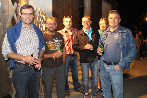 Bürgermeister Franz Penz (v.l.n.r.) – seit mehreren Jahren Stammgast   nützte den Besuch beim SoundShake zu einem unterhaltsamen Gespräch mit Andreas Buchberger, Gotfried Schmidt, Johannes Punz, Johann Hiesberger und Klaus Korosek.