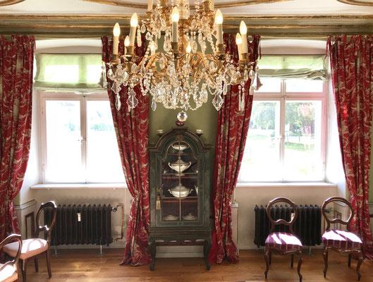 Blick aus den Südfenstern des französischen Zimmers