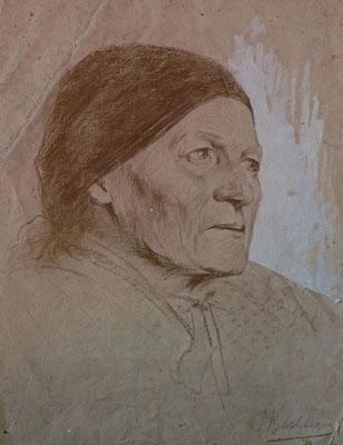 Frau mit Kopftuch