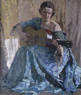 Die Gitarrespielerin