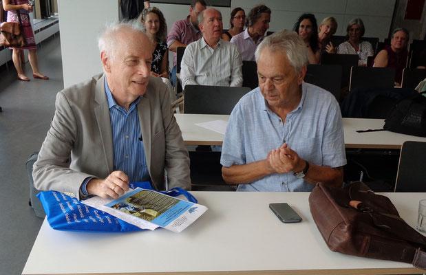 Prof. Dr. Joseph Maran (li) im Gespräch mit Dr. Rudolf Landauer (re)