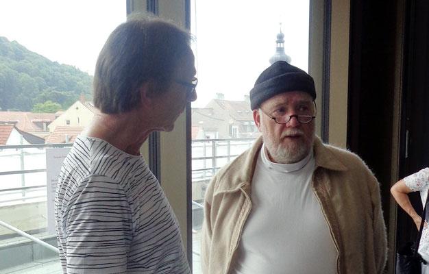 Dr. Hans Gebel (re) im Gespräch mit Volker Mayer (li)