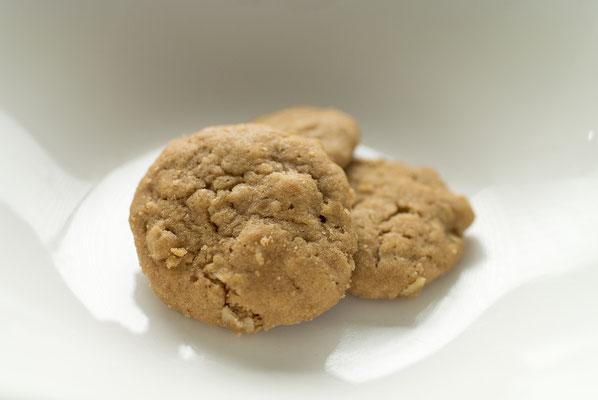 オートミール:名称 焼菓子 内容量55g 原材料名『アレルゲン対象範囲7品目』小麦粉(国内製造)、マーガリン、ショートニング、オートミール、砂糖、鶏卵、重曹/香料、(一部に小麦、卵、乳成分を含む)