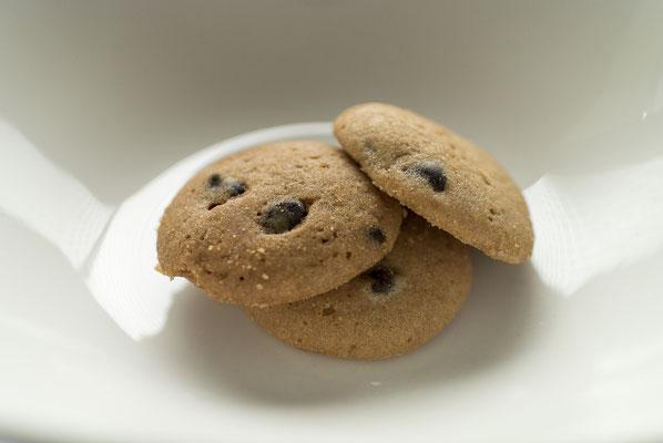 チョコチップ:名称 焼菓子 内容量55g 原材料名『アレルゲン対象範囲7品目』小麦粉(国内製造)、マーガリン、チョコレートチップ、砂糖、鶏卵、ショートニング、重曹/香料、(一部に小麦、卵、乳成分を含む)