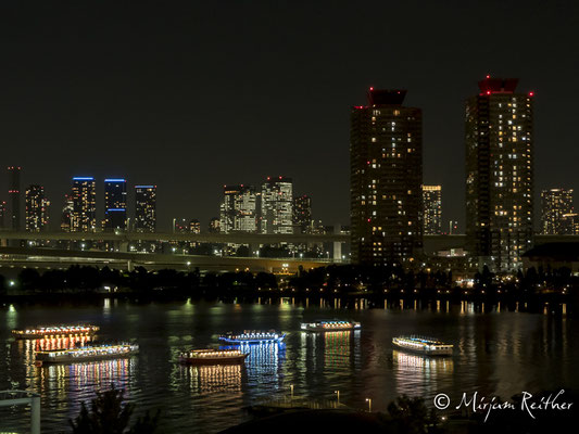 Skyline Tokios von Odaiba aus gesehen, Japan