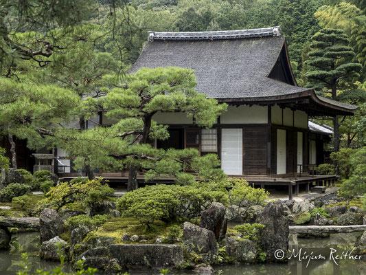 Garten des Ginkakuji Tempel in Kyoto, Japan