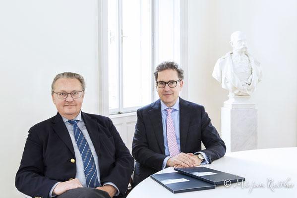 Georg Wolf-Schönach & Alexander Eberan, Vorstand Bankhaus Krentschker