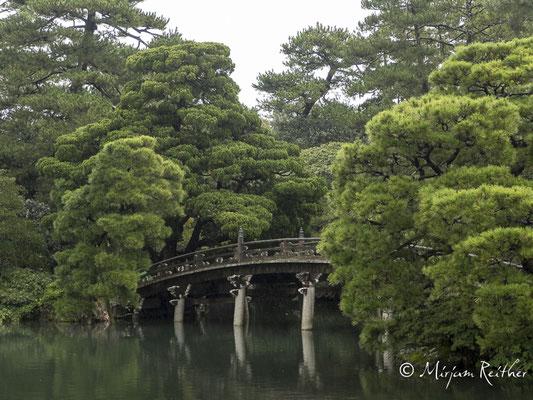 Garten des Kaiserpalasts in Kyoto, Japan