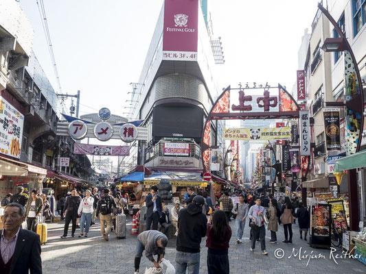 Das Stadtviertel Ueno in Tokio, Japan