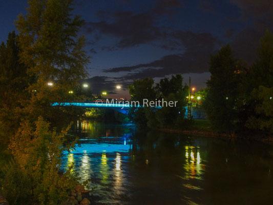 Donaukanal, Rossauerbrück Nachts