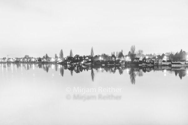 Alte Donau in der Nacht