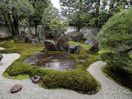 Garten der Shigemori Mirei Residenz in Kyoto, Japan