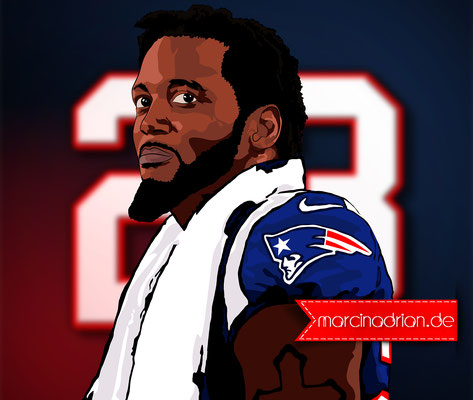 Patrick Chung #23 #patriots / #23patrickchung Patrick Christopher Chung ist ein jamaikanischer American Football Spieler in der National Football League, der für die New England Patriots by Marcin Adrian #photoshopcs6 #adobe #photoshop #Illustration