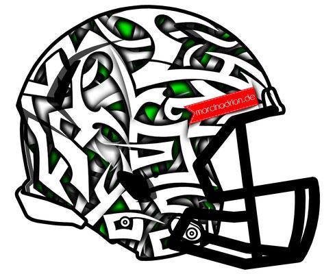 Football, American football, Americana, Helm, Illustration, zeichnung, silhouette, sport, comic, coole, style, mode, Grafiker, art, Marcin Adrian, americanfootball, American, Football, Helmets, Helmet, Tribal, Tribals, Rot, us sport, sportlich, football,