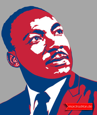 Dr. Martin Luther King, Jr. MLK, Martin Luther King / MLK, black and white silhouette illustration by Marcin Adrian #photoshopcs6 #adobe #photoshop #Illustration