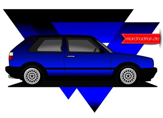 VW Golf Marcin Adrian #marcinadrian #marcin_adrian Marcin Adrian, www.marcinadrian.de, Stadt Wesseling #Wesseling #Marcin_Adrian, illustration, Grafiker, art
